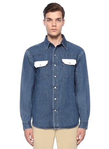 Ck Jeans Gömlek Mavi